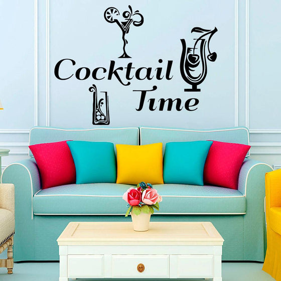 Cocktail Time Wall Decals - Wine Time Club