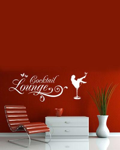 Cocktail Lounge Vinyl Wall Decal - Wine Time Club