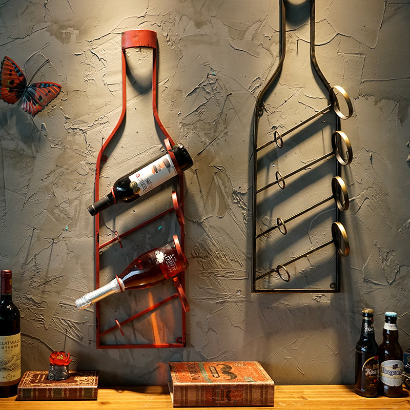 Creative Wall  Hanging Decorative Wine Rack - Wine Time Club