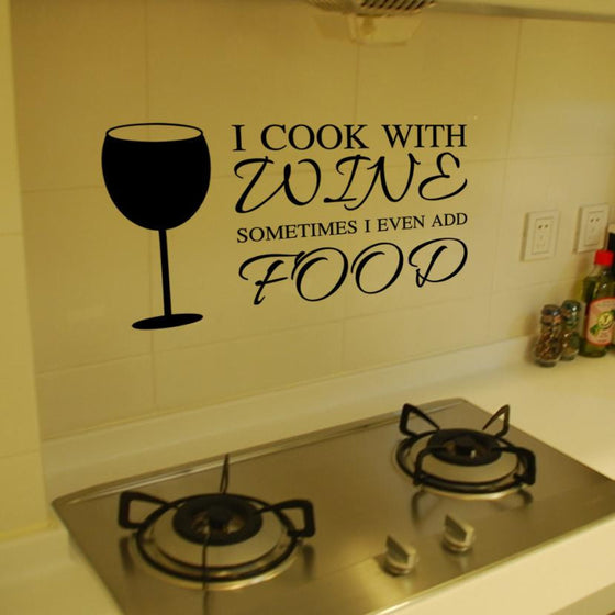 Kitchen Vinyl Wall Stickers - Wine Time Club