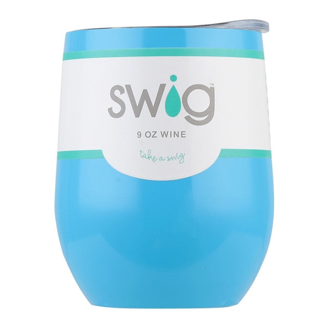 9oz Swig Wine Cups - Stainless Steel Insulated