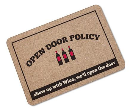 Humorous Funny Welcome Doormat Non-slip - Wine Time Club