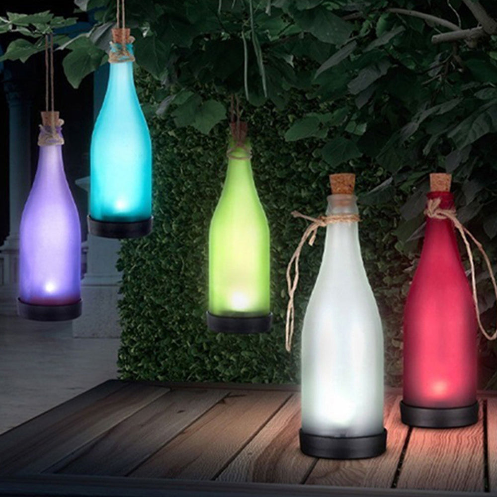 Wine Bottle LED Solar Powered