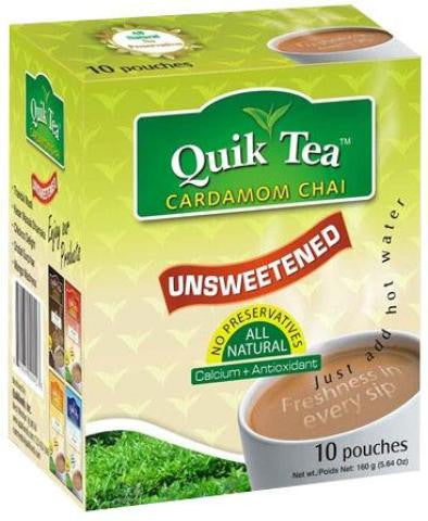 Quik Tea Unsweetened Cardamom Chai 10 Pouches