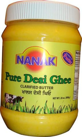 Nanak Pure Desi Ghee (Clarified Butter)  800 Grams (28 OZ)