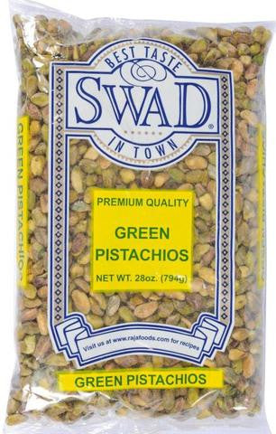 Swad Premium Quality Green Pistachios 28 OZ (794 Grams)