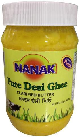 Nanak Pure Desi Ghee (Clarified Butter) 400 Grams (14 OZ)