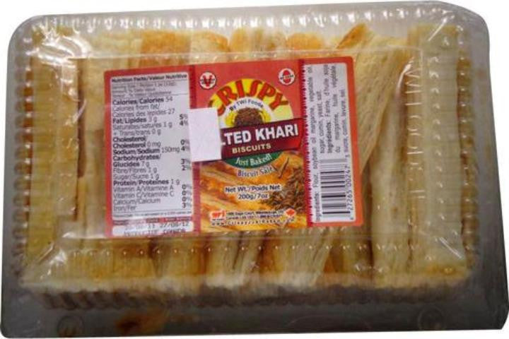 Twi Foods Crispy Salted Khari Biscuits 7 OZ (200 Grams)