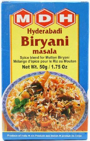 MDH Hyderabadi Biryani Masala 50 Grams (1.75 OZ)