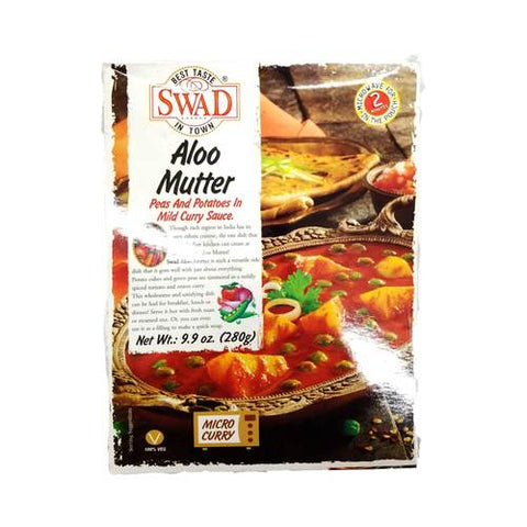 Swad Aloo Mutter Peas & Potatoes in Mild Curry Sauce 280 Gm
