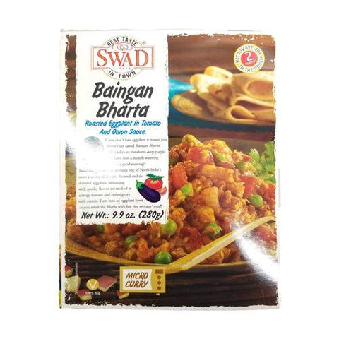 Swad Baingan Bharta Roasted Eggplant in Tomato & Onion Sauce 280 Gm