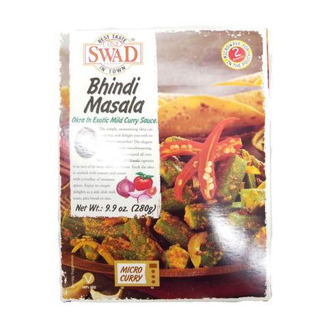 Swad Bhindi Masala Okra in Exotic Mild Curry Sauce 9.9 OZ (280 Grams)
