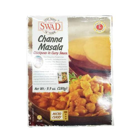 Swad Channa Masala Chickpeas in Curry Sauce 9.9 OZ (280 Grams)