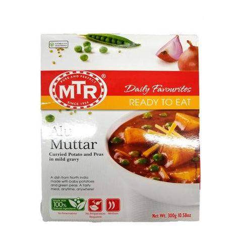 MTR Alu Mutter (Curried Potato and Peas in Mild Gravy) 300 Gm
