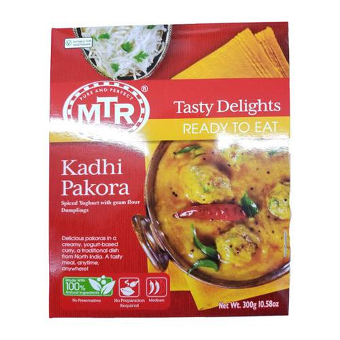 MTR Kadhi Pakora Spiced Yoghurt With Gram Flour Dumplings 300 Grams