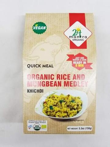 24 Mantra Rice & Mung Bean Medley (khichdi) 5 OZ (150 Grams)
