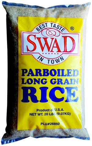 Swad Parboiled Long Grain Rice 20 LBs