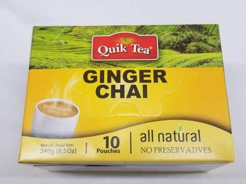Quik Tea Ginger Chai 8 OZ (241 Grams)