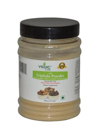 Vedic Care 100% Triphala Churna (Dietary Supplement) 3.5 OZ