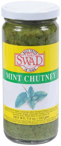 Swad Mint Chutney 7.5 OZ (212 Grams)