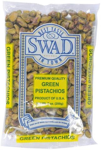 Swad Premium Quality Green Pistachios 7 OZ (200 Grams)