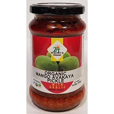 24 Mantra Mango Avakaya With Garlic 11 OZ (300 Grams)