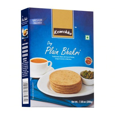 Kemcho Dry Plain Bhakri 7.05 OZ (200 Grams)