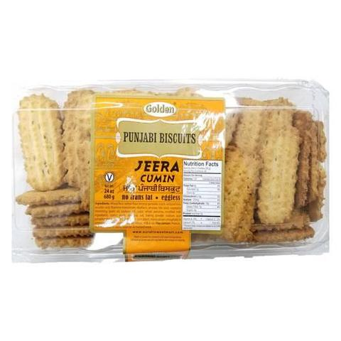 Golden Punjabi Biscuits Jeera 24 OZ (680 Grams)