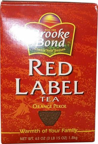 Brooke Bond Red Label Tea Orange Pekoe 63 OZ (1.8 KG)