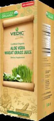 Vedic Organic Wheat Grass in Aloe Vera Juice 1 Litre