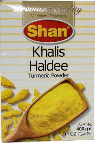 Shan Khalis Haldee Turmeric Powder 400 Grams (14 OZ)