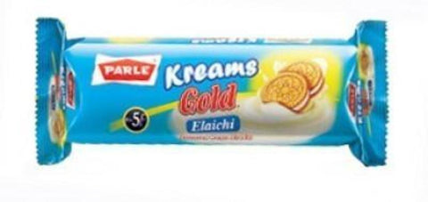 Parle Kreams Gold Elaichi Cookies 70 Grams (2.47 OZ)