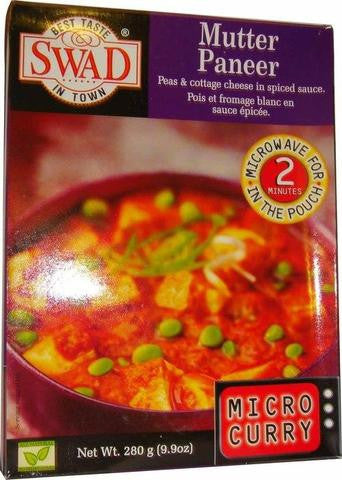 Swad Mutter Paneer Peas & Cottage Cheese in Spiced Sauce 280 Gm