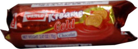 Parle Kreams Gold Chocolate Biscuits 70 Grams (2.47 Oz)