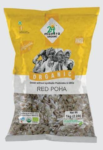 24 Mantra Red Poha 2 LB (907 Grams)