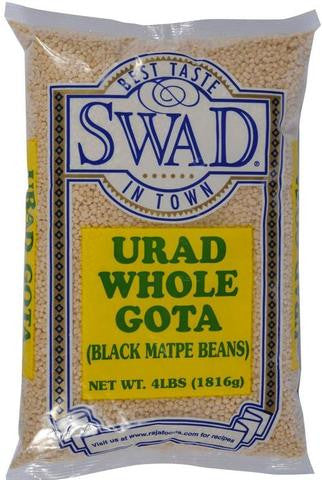 Swad Urad Whole (Gota) 4 LB (1816 Grams)