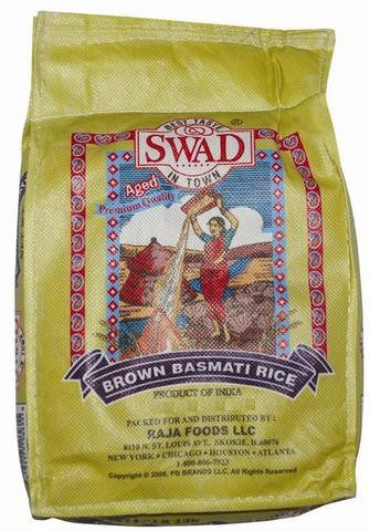 Swad Brown Basmati Rice 10 LB