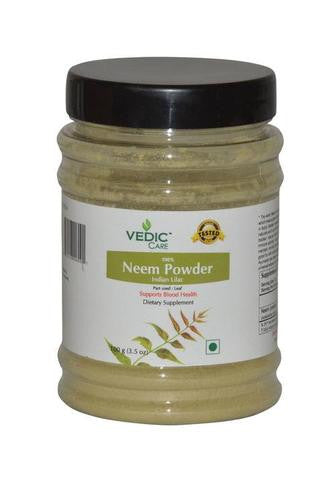 Vedic Care 100% Neem Powder (Dietary Supplement) 3.5 OZ