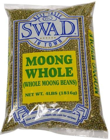Swad Moong Whole (Whole Moong Beans) 4 LB (1816 Grams)