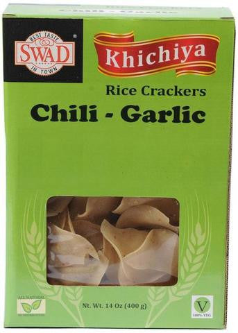Swad Khichiya Chili Garlic Rice Crackers 14 OZ