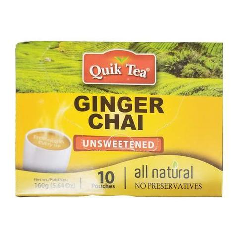 Quik Tea Unsweet Ginger Chai 5 OZ (159 Grams)