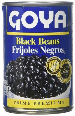 Goya Black Beans 15 OZ (427 Grams)