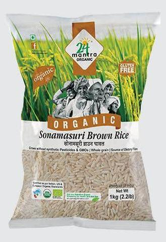 24 Mantra Sona Masoori Rice Brown 2 LB (998 Grams)