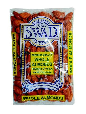 Swad Whole Almonds 7 OZ (200 Grams)