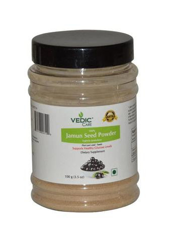 Vedic Care 100% Jamun Seed Powder (Dietary Supplement) 3.5 OZ