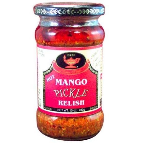 Deep Hot Mango Pickle 10 OZ (283 Grams)