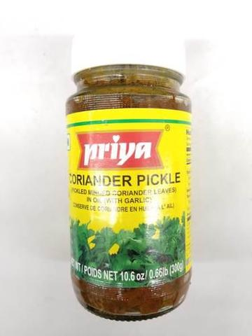 Priya Coriander Pickle In Oil (with Garlic) 11 OZ (300 Grams)
