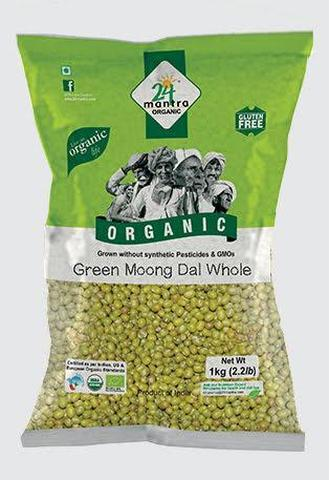 24 Mantra Moong Green Whole 2 LB (907 Grams)