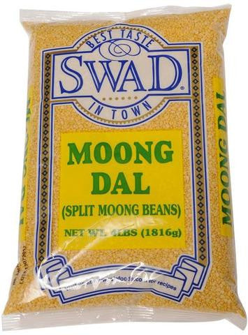 Swad Moong Dal Split Moong Beans 4 LB (1816 Grams)