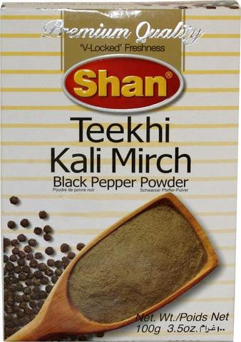 Shan Teekhi Kali Mirch Black Pepper Powder 100 Grams (3.5 Oz)